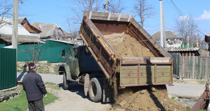 На дороге по улице Лермонтова ведутся ремонтные работы